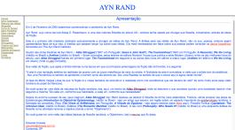 Ayn Rand Old Site - 01 - Apresentacao