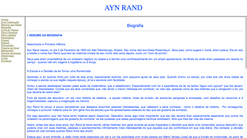 Ayn Rand Old Site - 04 - Biografia