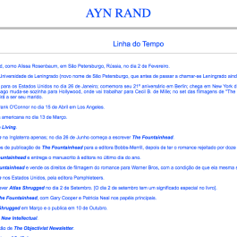 Ayn Rand Old Site - 05 - Linha do Tempo