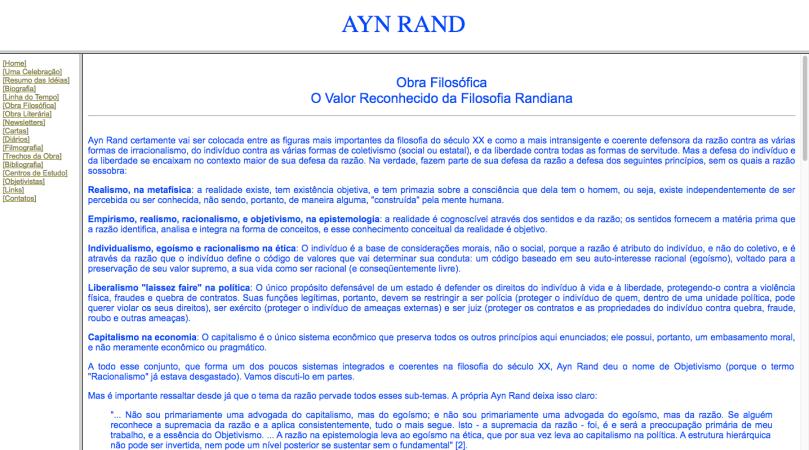 Ayn Rand Old Site - 06 - Obra Filosofica