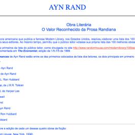 Ayn Rand Old Site - 07 - Obra Literaria