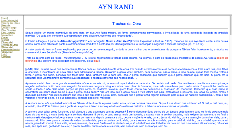 Ayn Rand Old Site - 12 - Excertos