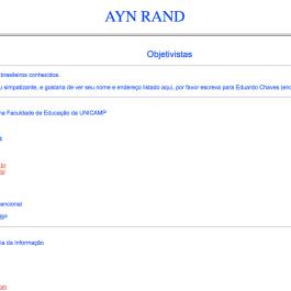 Ayn Rand Old Site - 15 - Objetivistas