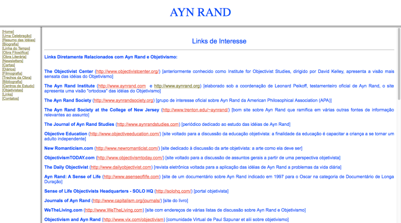 Ayn Rand Old Site - 16 - Links