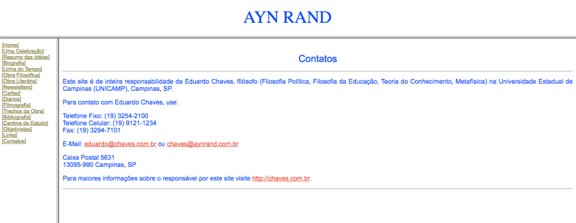 Ayn Rand Old Site - 17 - Contato